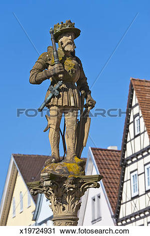 Stock Photography of Market place in Reutlingen, Germany x19724931.