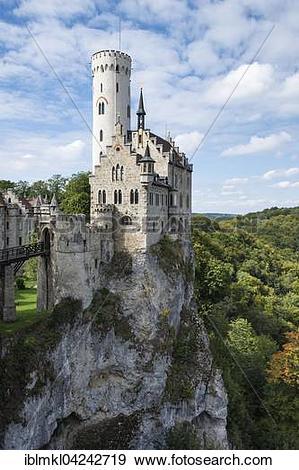 Stock Photograph of Lichtenstein Castle, district of Reutlingen.