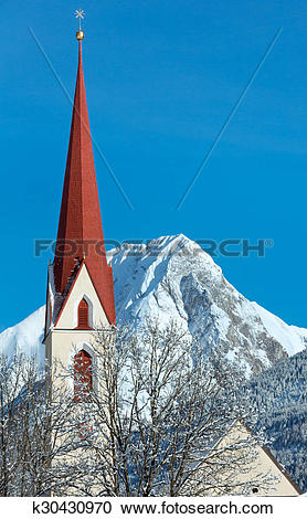 Stock Photography of Haselgehr village (Austria, Reutte) k30430970.