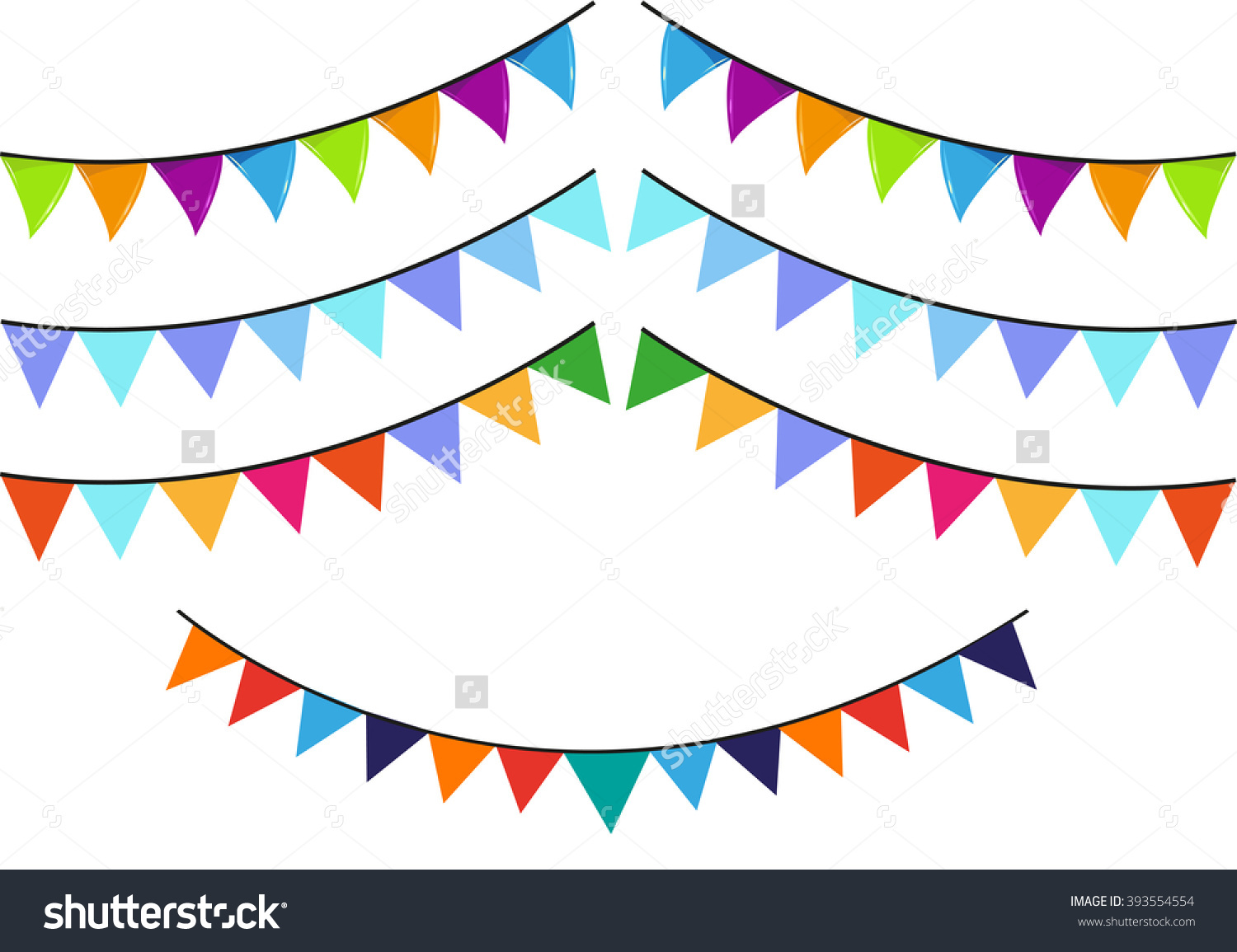 Flaglets Used Cultural Festivals Parties Editable Stock Vector.
