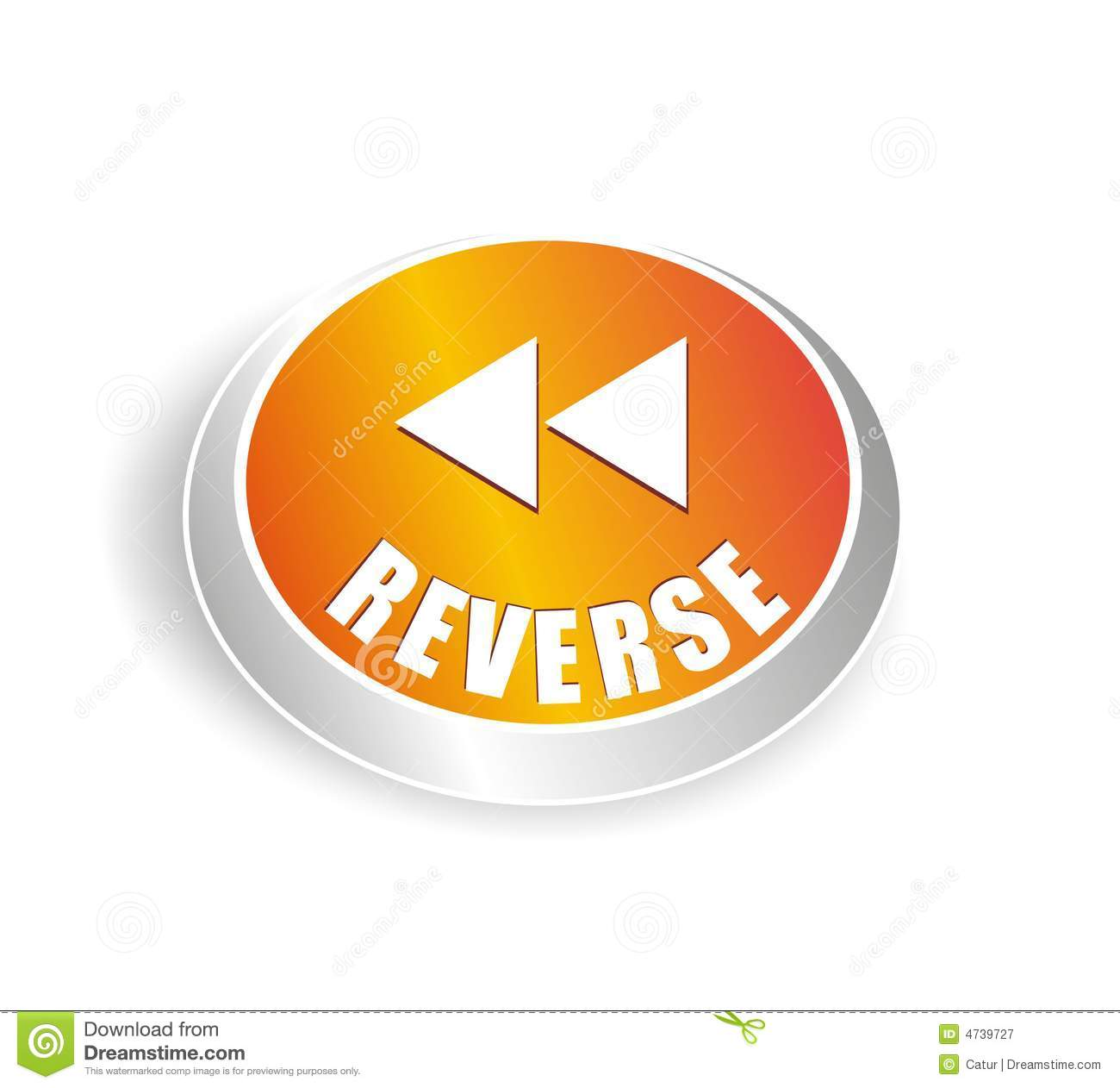 Cool Reverse Button Royalty Free Stock Photography.