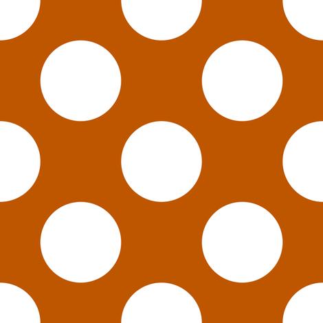 Spiced Pumpkin and White ~ Polkadot Reverse fabric.
