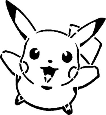 Pikachu stencil (reverse color) ….