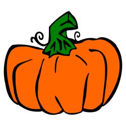 Tall Pumpkin Clipart.