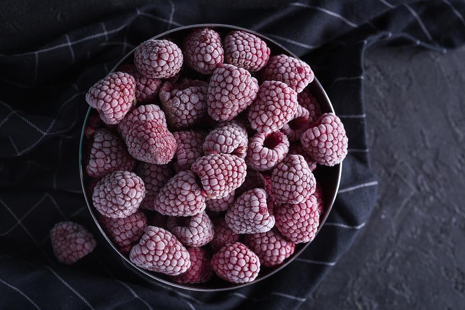 Free photo Rose Hip Frozen Berries Berries Frozen Rosehips.