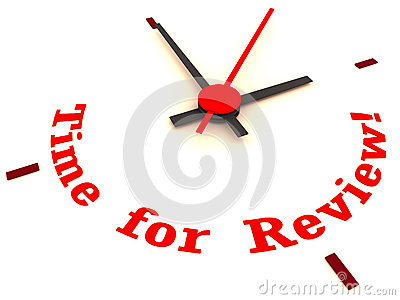 Review Time On Clock Royalty Free Stock Image.