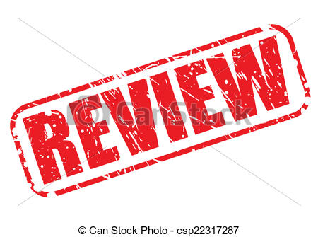 Vector of Review red stamp text on white csp22317287.