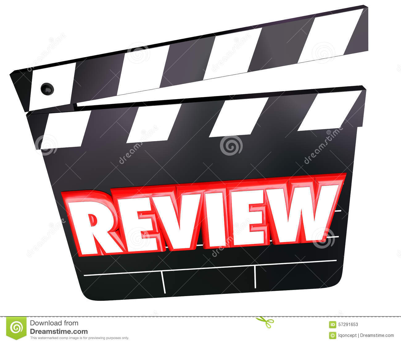 Review Movie Clapper Film Critic Rating Comments Opinions Stock.