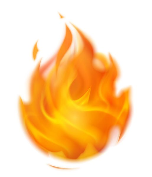 Flaming Fire PNG Clipart Picture.