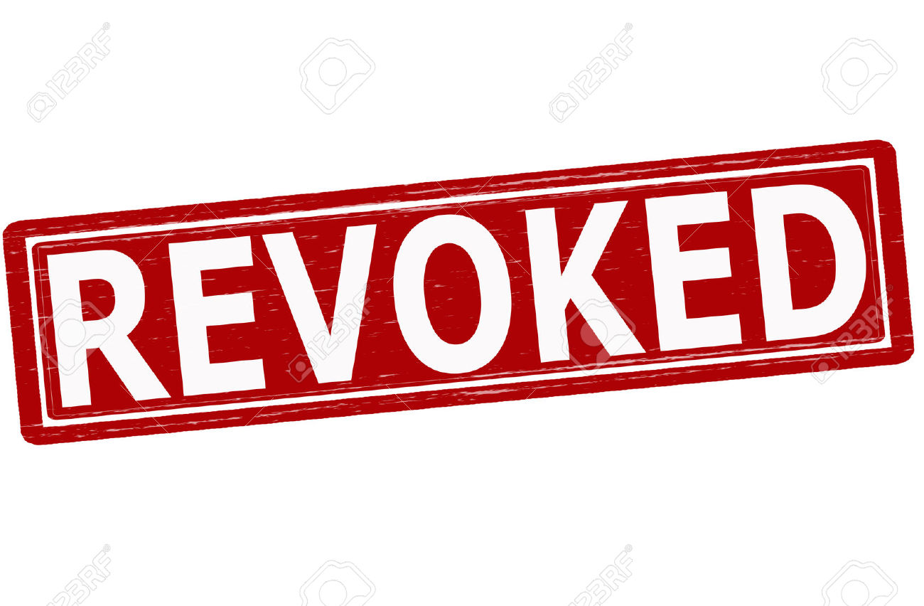 Stamp With Word Revoked Inside, Vector Illustration Royalty Free.