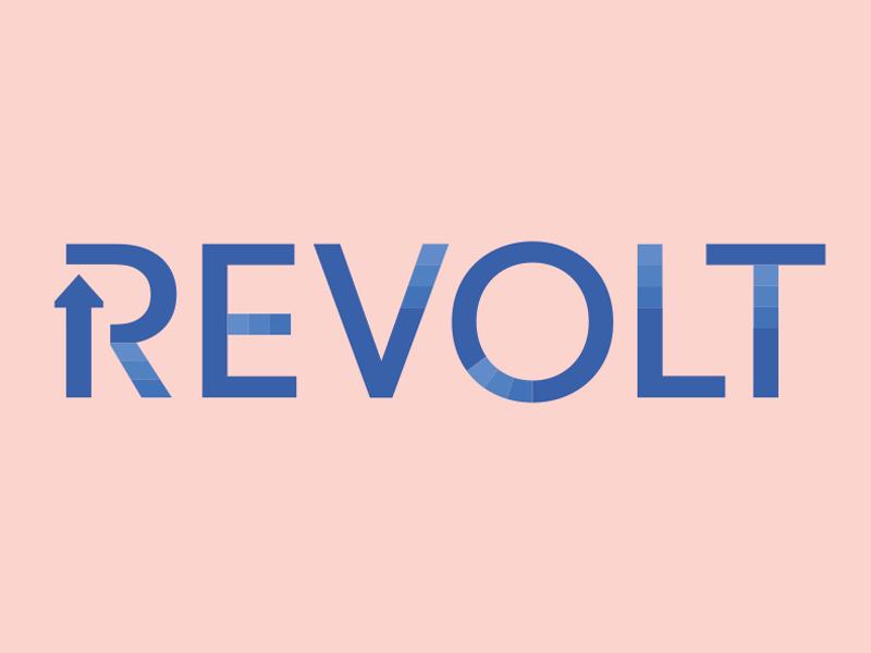 Revolt Logo Idea by Kyle Wayne Benson on Dribbble.