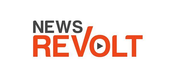 News Revolt logo design by AcceleratedWebsites.com.