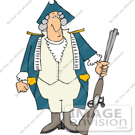 Revolutionary soldier clip art.