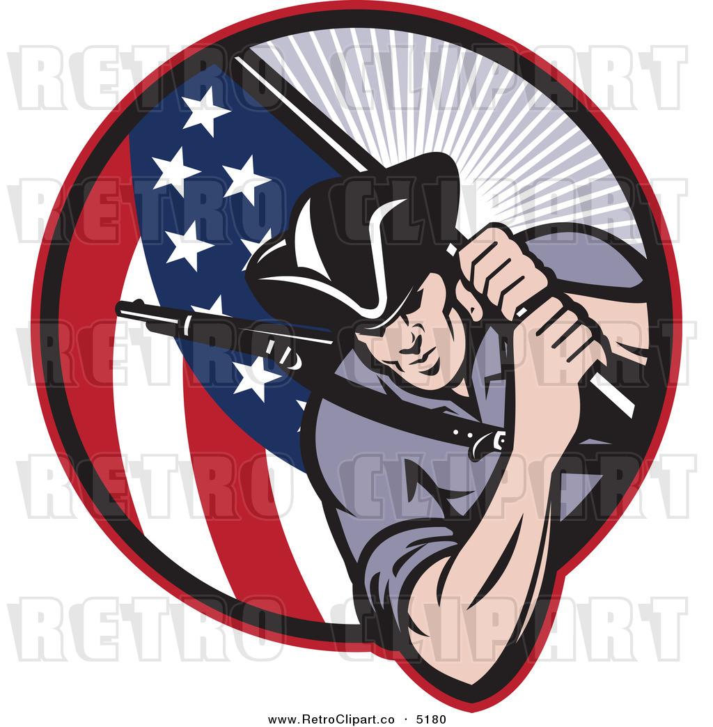 Revolutionary soldier clip art.