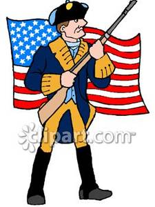 Revolutionary war soldier clipart.
