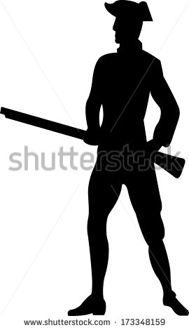 American Revolutionary War Soldier On Horse Stock Vector 173348171.