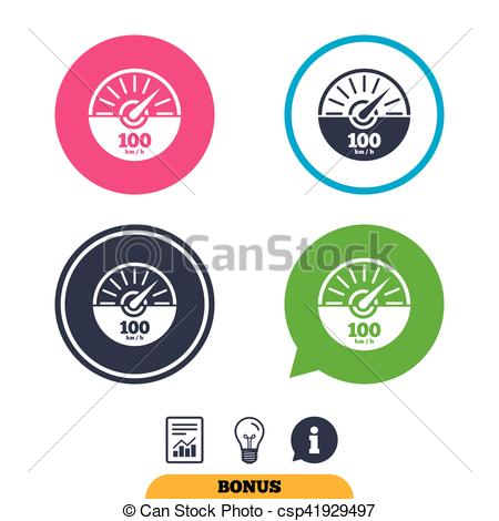 EPS Vectors of Tachometer sign icon. Revolution.