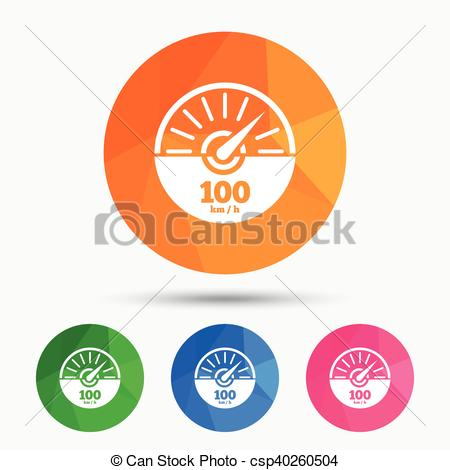 Vector Clipart of Tachometer sign icon. Revolution.