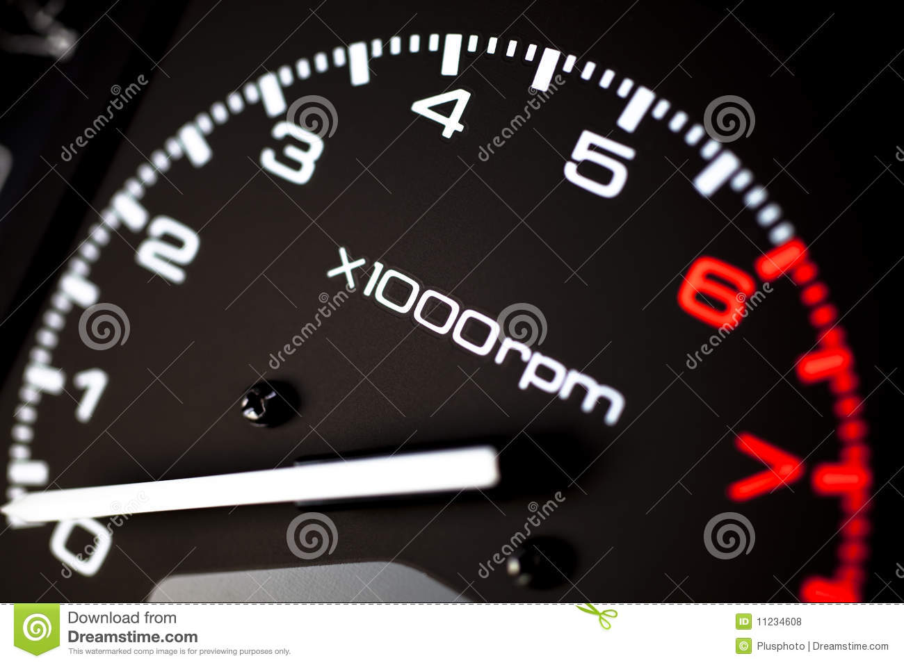 Rev Counter Tachometer Royalty Free Stock Images.