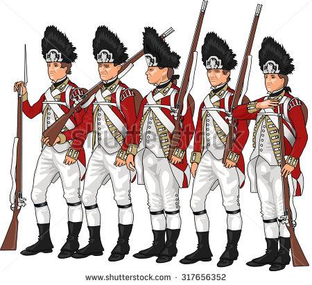 British Uniform Revolutionary War Clip Art.