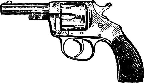 Old style revolver vector image.