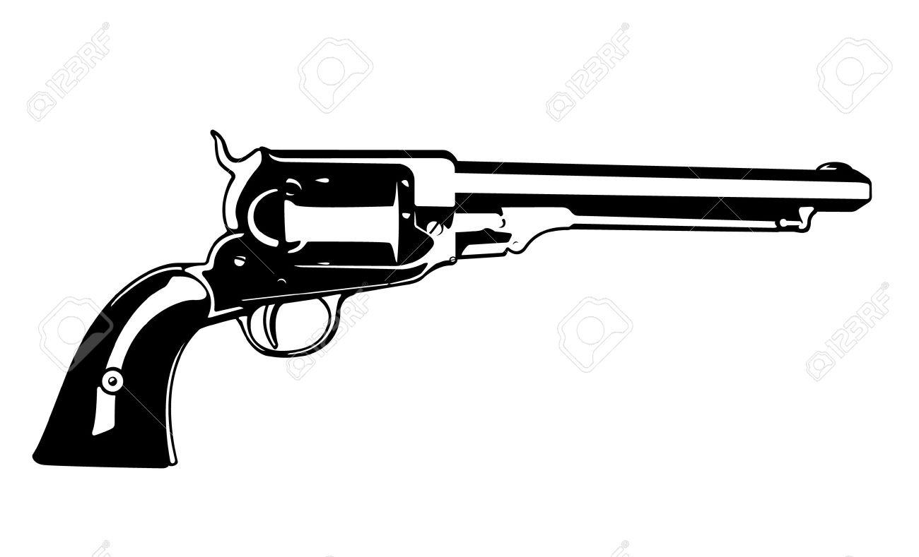 Western Revolver Vector.