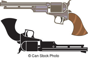 Old revolver Vector Clip Art Royalty Free. 1,101 Old revolver.