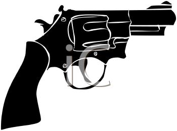 Pistol Silhouette Clipart.