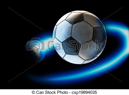 Drawings of the world revolves around soccer.