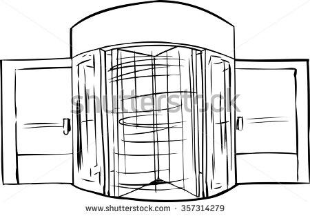 Revolving door transparent background clipart.