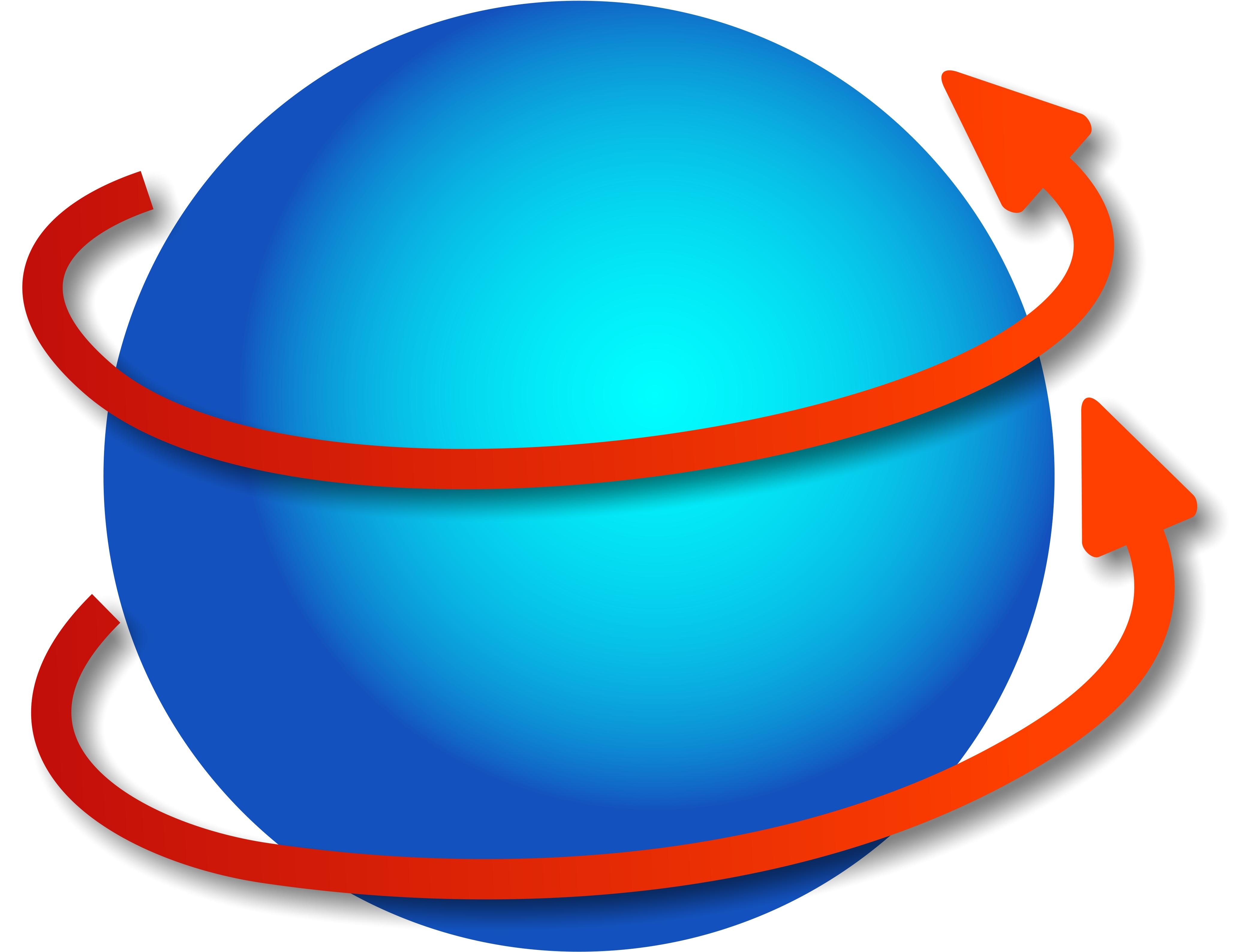 Revolving Globe.