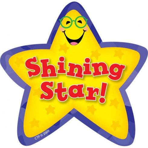 Shining Star Stickers.