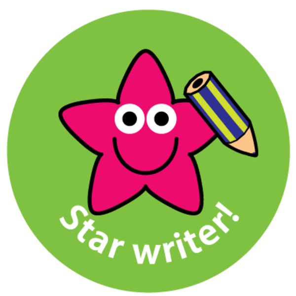 28mm Star Writer reward stickers.