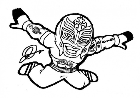 Wwe Superstars Coloring Pages coloring page, coloring image.