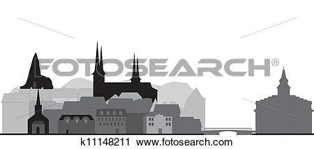 Clipart of reykjavik skyline k11148211.