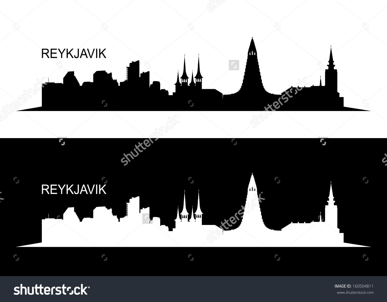 Reykjavik Skyline Vector Illustration Stock Vector 160504811.