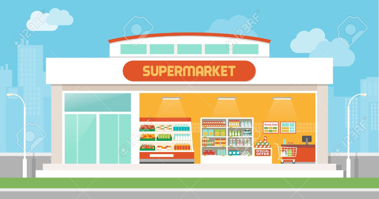 Free collection of Storefront clipart hypermarket. Download.