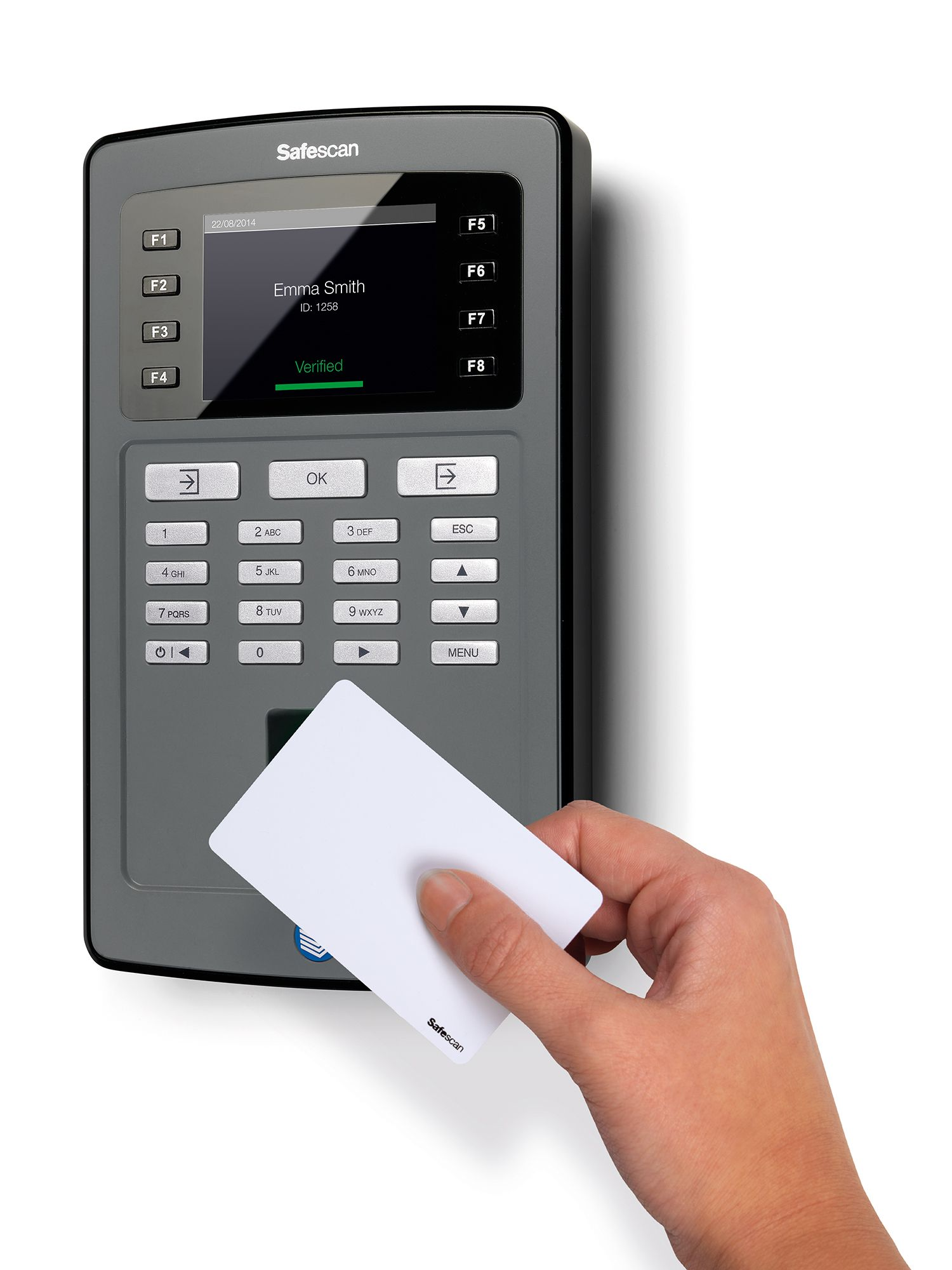 Safescan TA8035 WiFi Clocking In System with Fingerprint Sensor.