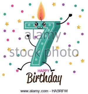 Kids Birthday Party Vector Illustration Stock Photo, Royalty Free.
