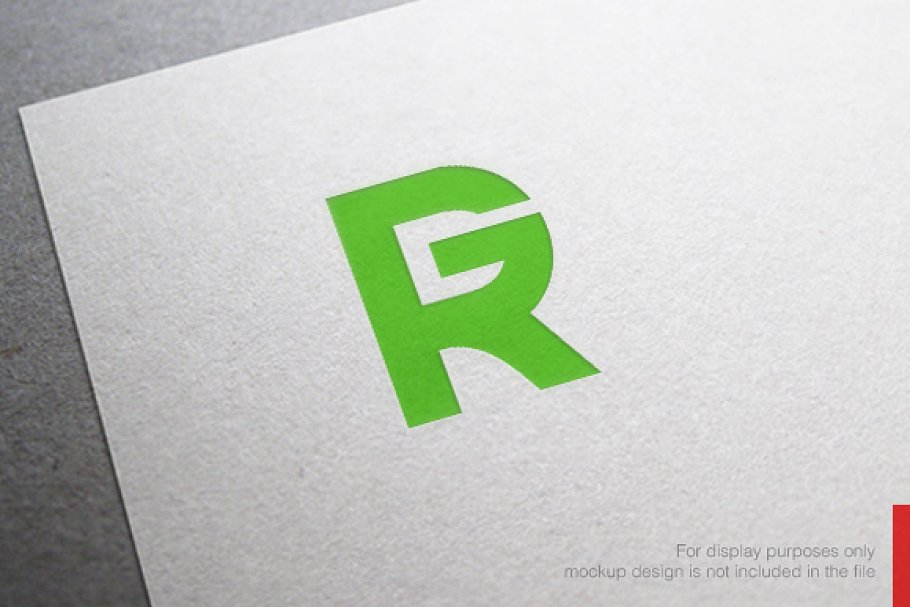 Abstract Letter R G Logo.