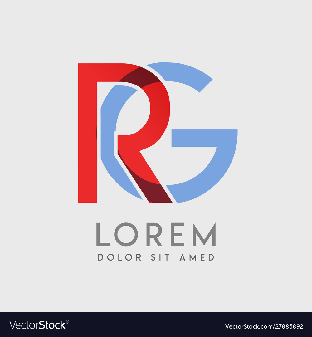 Rg logo letters with blue and red gradation.