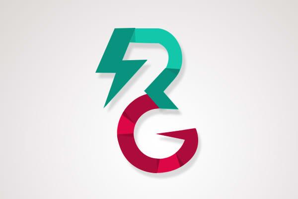 Rg logo in electricity or thunder by Deva1719.