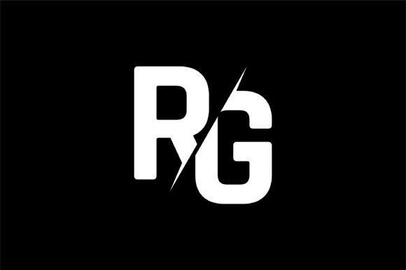 Monogram RG Logo Design.
