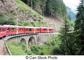Stock Image of Swiss bridges.