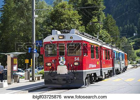 "Stock Images of ""Rhaetian Railway, Bernina Express, Le Prese."