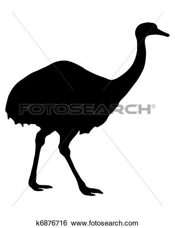 Stock Illustration of Greater Rhea Silhouette k6876716.