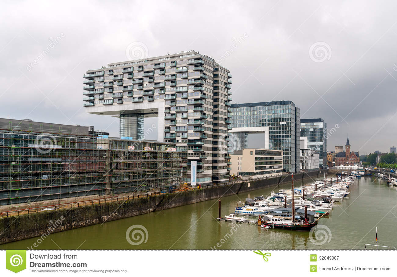 Kranhaus Apartment And Office Buildings In Cologne, Germany.