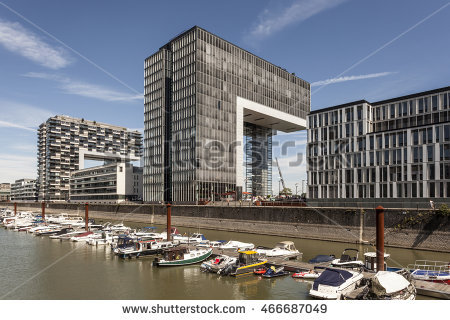 Cologne Buildings Modern Stock.