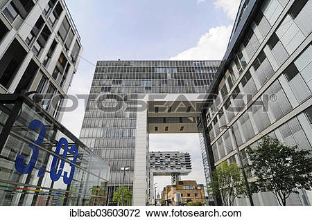 "Stock Photo of ""Crane towers, office buildings, residential."
