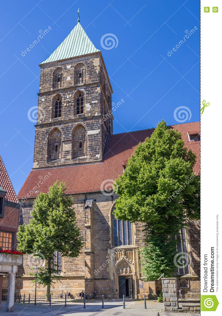 St. Dionysius Church In The Center Of Rheine Stock Photo.